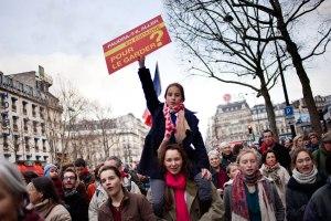 Marche pour la vie, manifestation contre l'IVG, Paris, 19 janvier 2014. ©Agnès Varraine-Leca