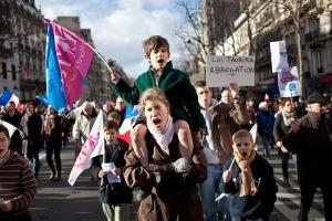 Manif pour tous, Paris, 2 février 2014. © Agnès Varraine-Leca